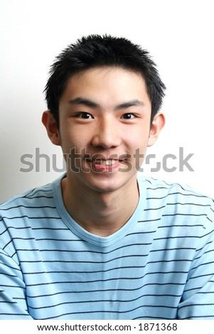 Portrait of asian teen. - stock photo