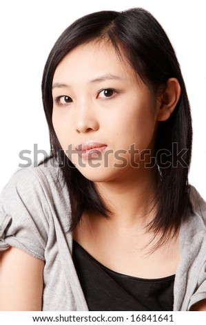 portrait of asian woman. - stock photo
