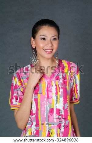 portrait of asian woman