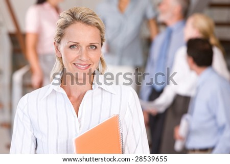 Portrait of attractive business woman - stock photo