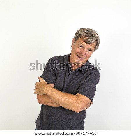 portrait of attractive handsome senior man
