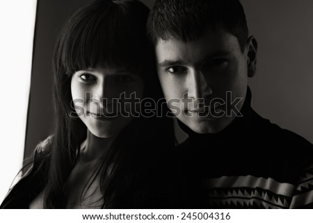 portrait of attractive young couple. indoor shot