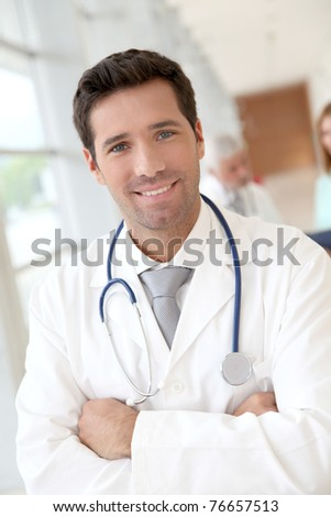 Portrait of attractive young doctor