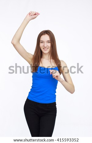 Portrait of attractive young woman - stock photo