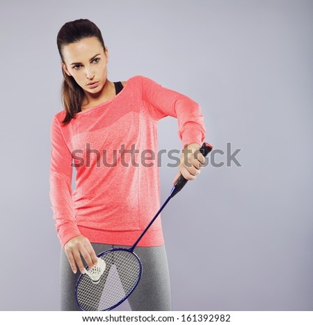 Badminton Players Rackets Female Badminton Player