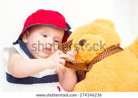 portrait of baby . sweet baby - stock photo