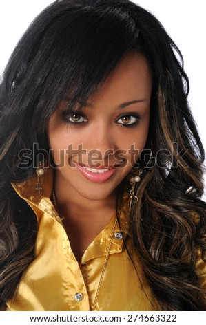 Portrait of beautiful African American businesswoman smiling