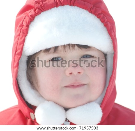 Portrait of beautiful baby - stock photo