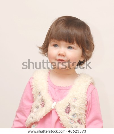 Portrait of beautiful baby girl - stock photo