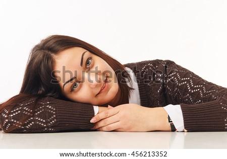 Portrait of beautiful business woman. - stock photo