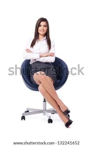 Portrait of beautiful businesswoman - stock photo