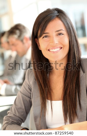 Portrait of beautiful businesswoman at work