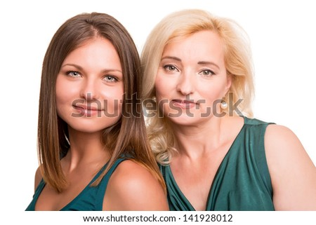 Portrait of beautiful daughter and her mother