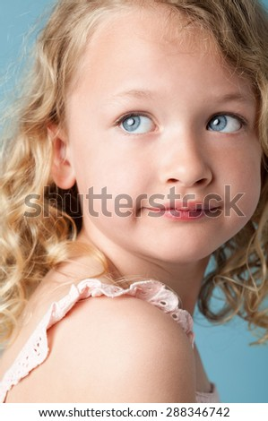 Portrait of beautiful little girl - stock photo