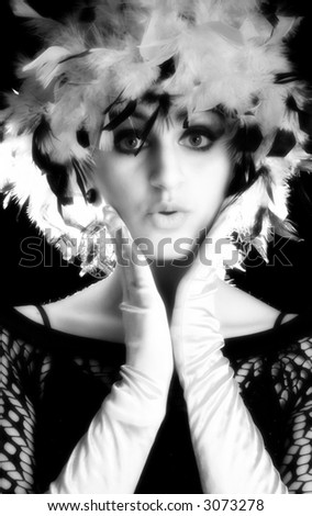 Portrait of beautiful Middle Eastern woman in costume. - stock photo