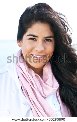 Portrait of beautiful smiling native american girl