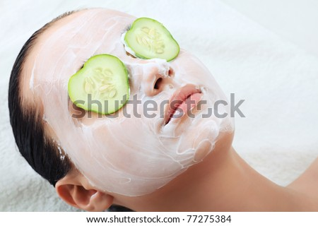 Portrait of beautiful spa girl. Beauty, healthcare. - stock photo