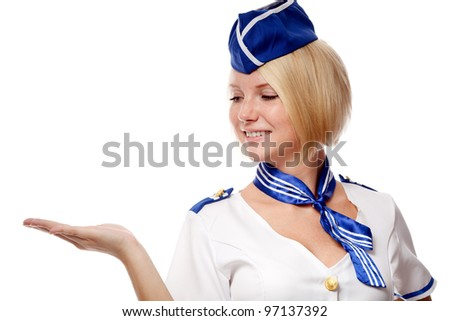 Portrait of beautiful stewardess