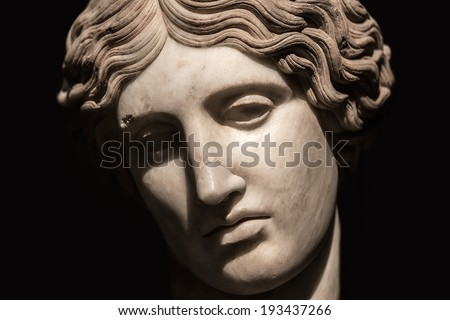 Portrait of beautiful Venus realized in stone, Rome, Italy, 2014 - stock photo