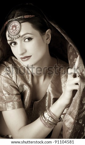 Portrait of  beautiful woman (Indian style)