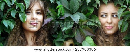 Portrait of beautiful woman outdoor  - stock photo