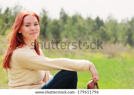 Portrait of beautiful  woman outdoors