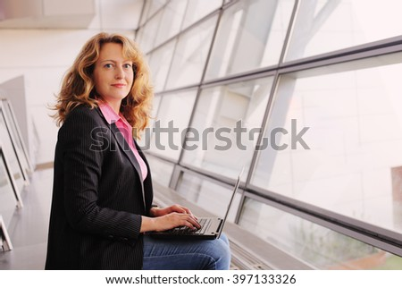 Portrait of beautiful 35 years old woman - stock photo