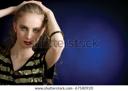 Portrait of beautiful young dancing girl