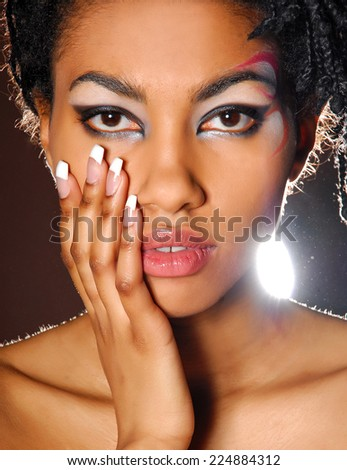Portrait of beauty african model - stock photo