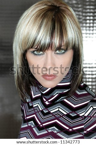 Portrait of blond girl - stock photo