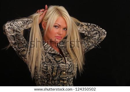 portrait of blonde - stock photo