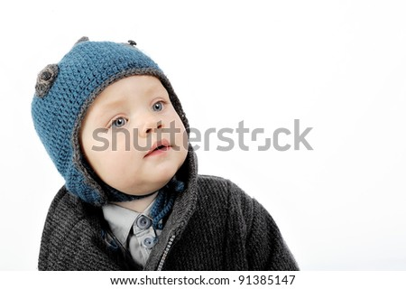 portrait of boy - stock photo