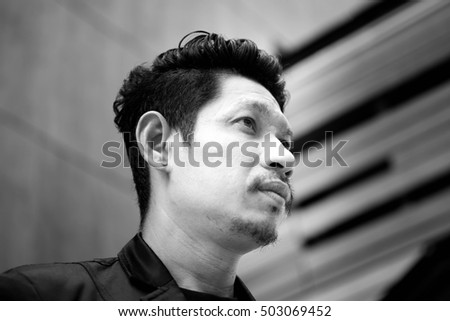 Portrait Of Businessman ,Young Handsome Man Look Forward, Casual,Lifestyle