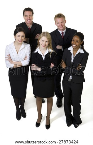 Portrait of businesspeople - stock photo