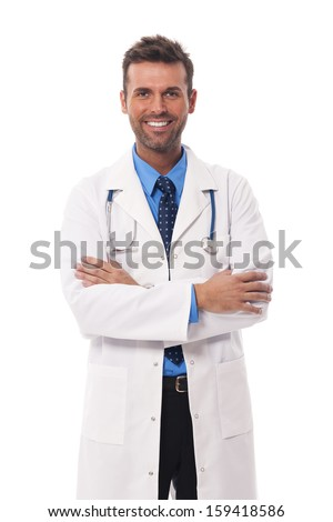 Portrait of candid male doctor