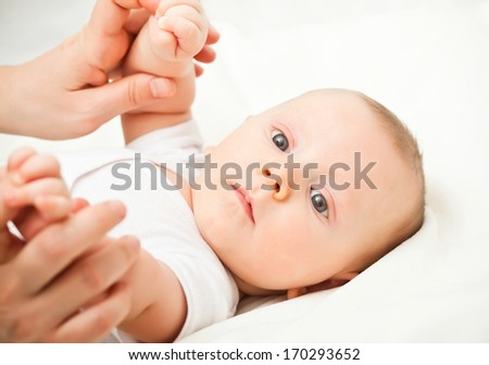 portrait of caucasian young baby