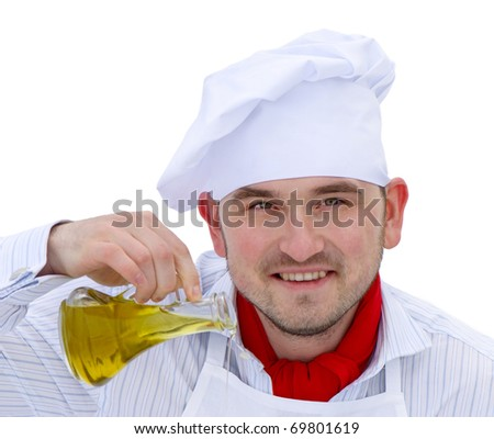 Portrait of chef isolated on white background