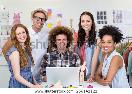 Portrait of confident and attractive fashion designers - stock photo