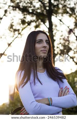 Portrait of confident woman - stock photo