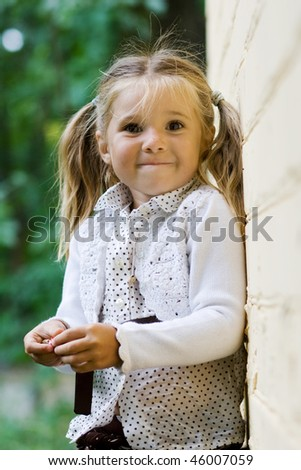 portrait of cute child outdoor