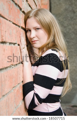 portrait of cute girl - stock photo