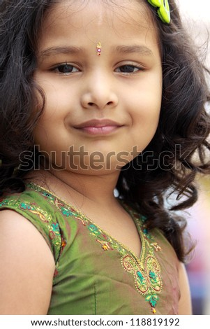 Portrait of Cute Indian Girl
