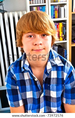 portrait of cute teenager - stock photo