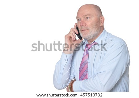 Portrait of Elderly  businessman