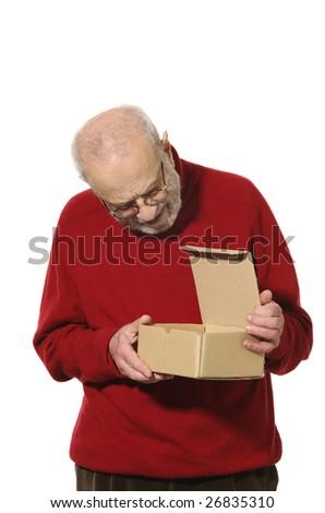portrait of elderly man - stock photo