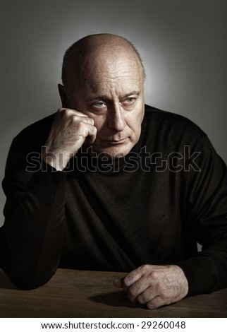 Portrait of elderly man - stock photo