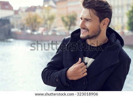 Portrait of fashionable man - stock photo