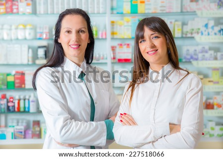Portrait of female pharmacists
