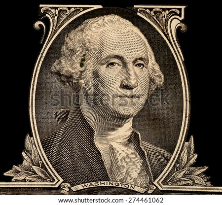 Portrait of first U.S. president George Washington - stock photo