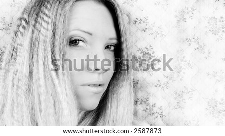 Portrait of Fresh and Beautiful blond woman